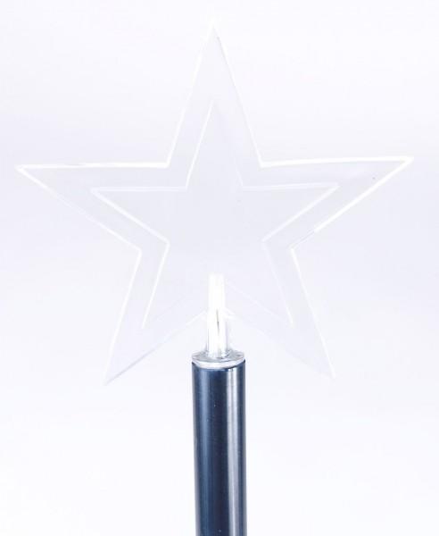 LED Garten-Leuchtstäbe mit großen Sternen-Aufsätzen