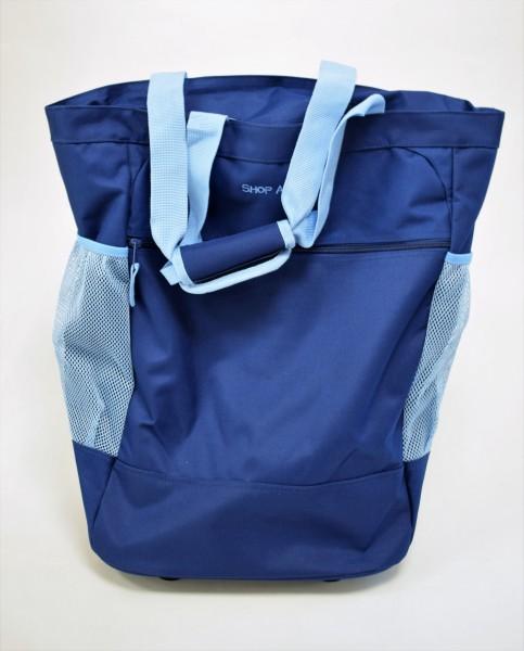 Einkaufstrolley blau