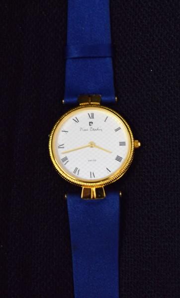 Damenarmbanduhr/PierreCardin/gold-blau/rund/Stoffband