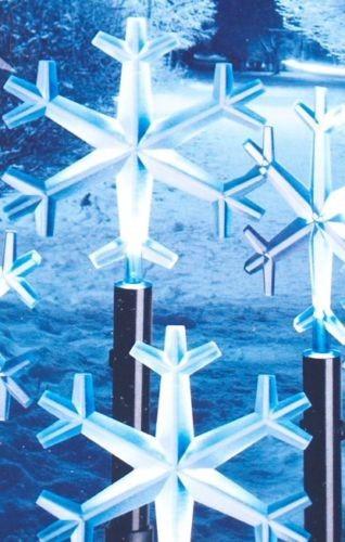 LED Balkon-Leuchtstäbe mit Schneeflocken Motiv