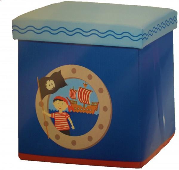 Kinder Sitz-Aufbewahrungsbox/blau
