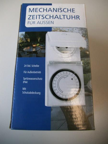 Mechanische Zeitschaltuhr für Aussen, 3500 Watt, IP44