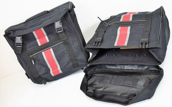 2er Fahrradtaschen Gepäckträgertaschen Set Satteltasche Seitentasche bikemate
