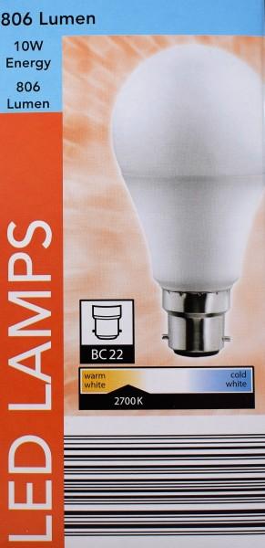 LedLamps/5erSet/806Lumen/10W/BC22