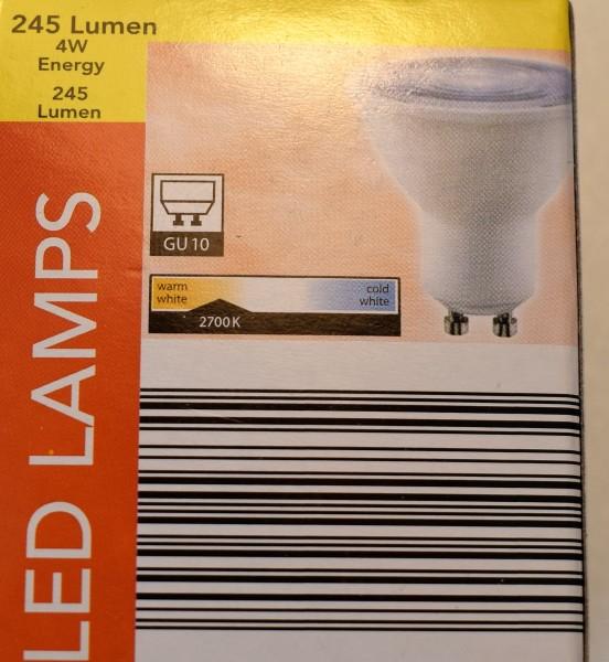 LedLamps/5erSet/245Lumen/4W/GU10