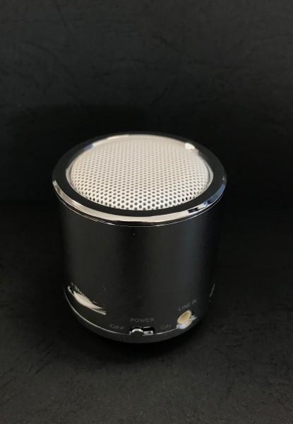 Mini-Lautsprecher/Alugehäuse/Chrom