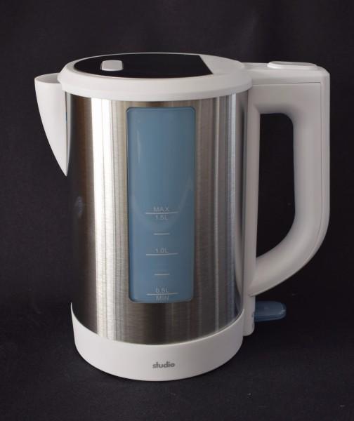 Edelstahl Wasserkocher/weiss/1,5 L