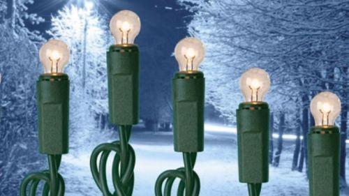 Mini-Außenlichterkette grün – 120 Lämpchen