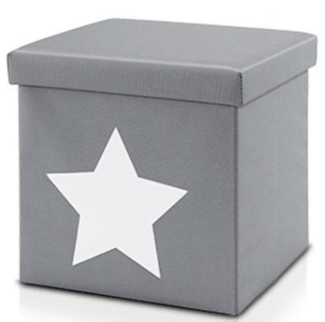 Kinder Sitz-Aufbewahrungsbox/grau/Stern