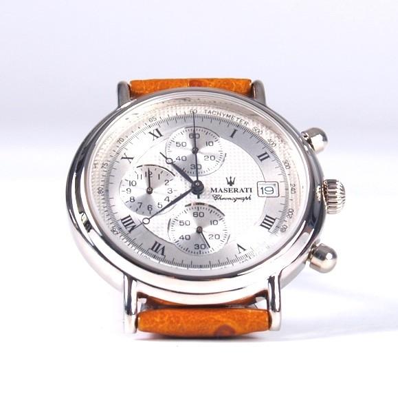 Maserati Armbanduhr silber braun