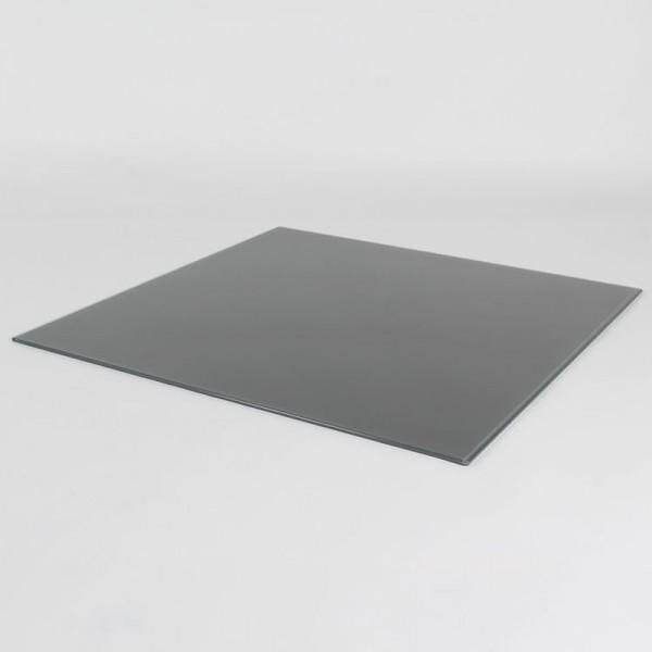 Glasplatte/grau/75cm x 75cm