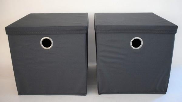 Aufbewahrungsbox-2erSet/anthrazit