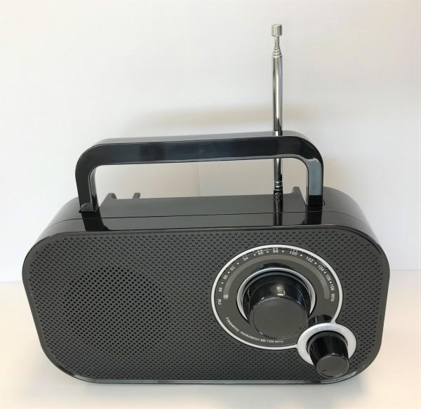 Kompaktradio/Schwarz/Retro-Design/T