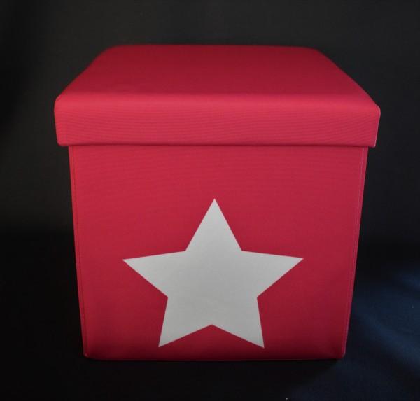 Kinder Sitz-Aufbewahrungsbox/pink/Stern