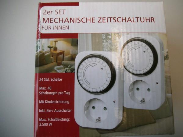 Mechanische Zeitschaltuhr für Innen 2er-Set