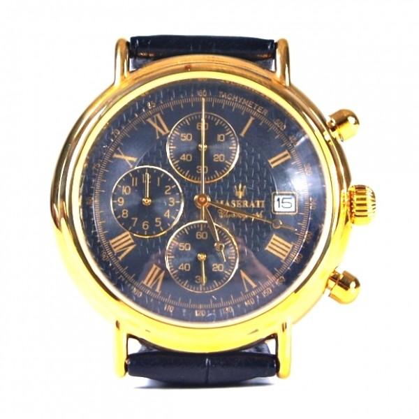 Maserati Armbanduhr gold schwarz