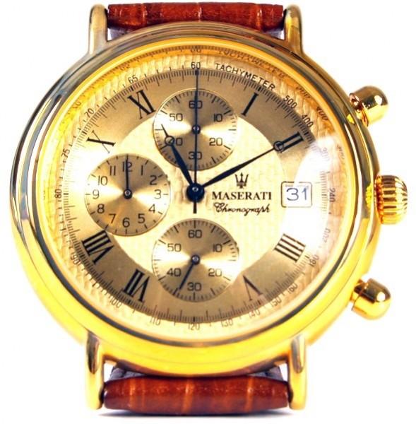 Maserati Armbanduhr gold braun