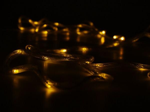 Textil-Lichterschlauch Weiß mit LEDs