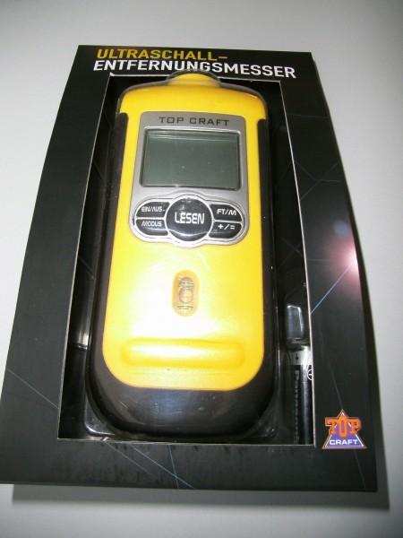 Ultraschall Entfernungsmesser mit Laser / Entferungsmessgerät Messgerät TOP CRAFT