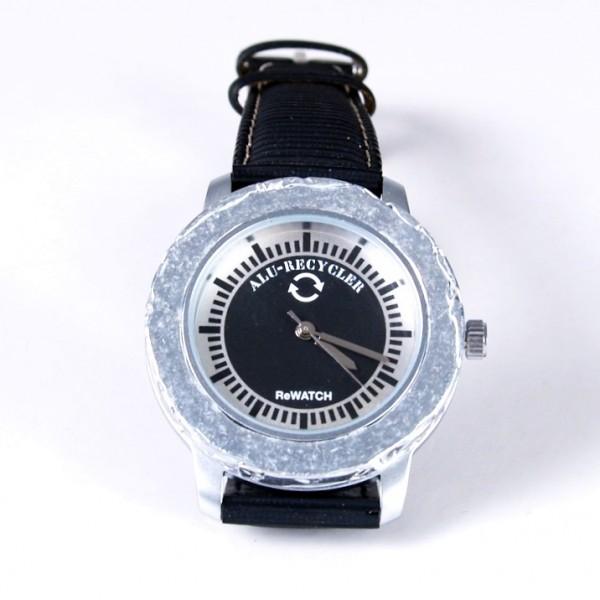 ReWatch Armbanduhr Recycling schwarz