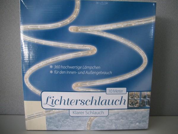 Lichterschlauch weiß für Innen- und Außenbereich 10 Meter