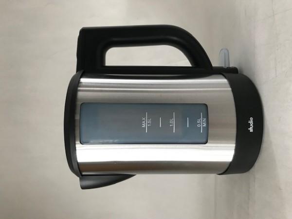 Edelstahl Wasserkocher/schwarz/1,5 L
