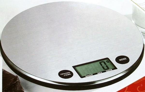 Digital Küchenwaage silber Edelstahl