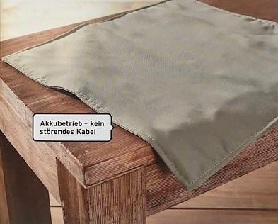 BeheizbareSitzauflage/beige/Akku/40x40cm/T