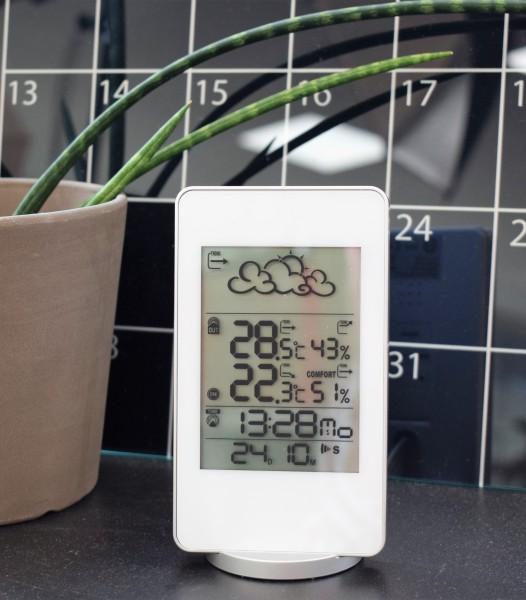 LCD-Funk-Wetterstation/weiss
