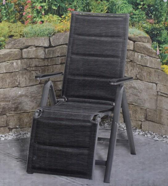 Aluminium-Relaxsessel schwarz-anthrazit